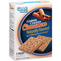 Great Value Cinnamon Grahams Crackers 3 Packs