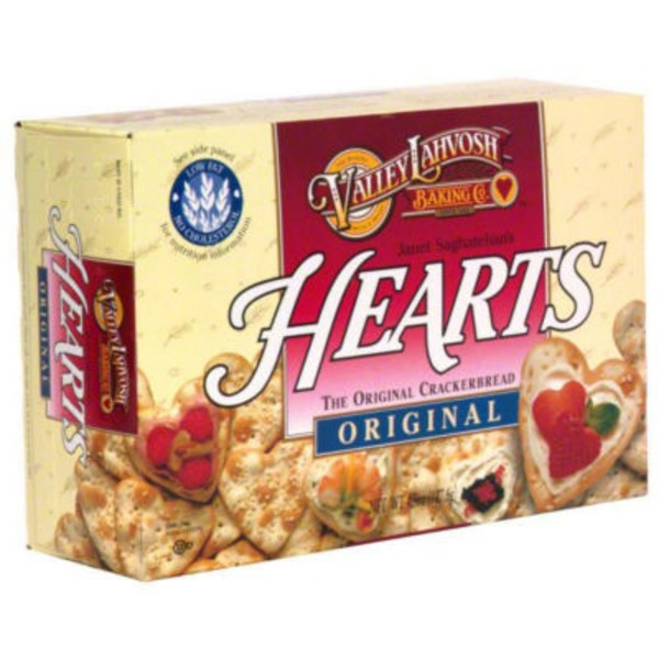 Valley Lahvosh Original Crackerbread Hearts