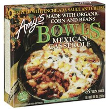 Amy's Mexican Casserole Topped W/Enchilada Sauce & Cheese Organic Corn & Beans Bowls