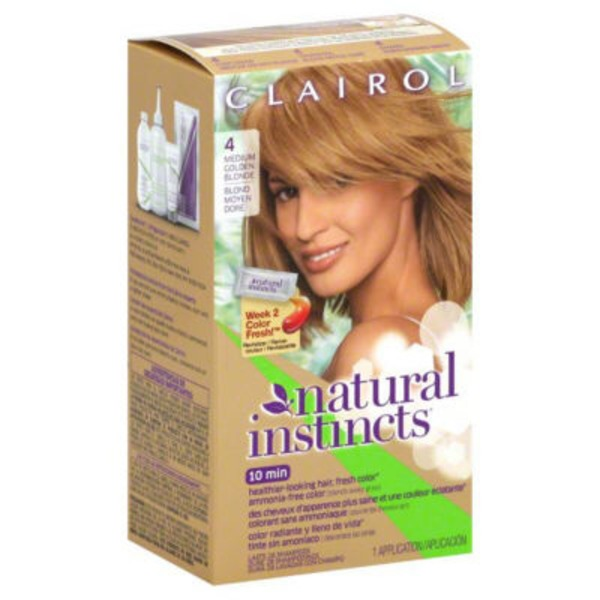 Clairol Natural Instincts, 8G / 4 Sunflower Medium Golden Blonde, Semi-Permanent Hair Color, 1 Kit Female Hair Color