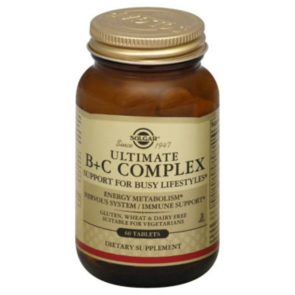 Solgar Ultimate B+ C Complex Tablets