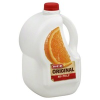 H-E-B Original 100% Orange Juice No Pulp Not From Concentrate