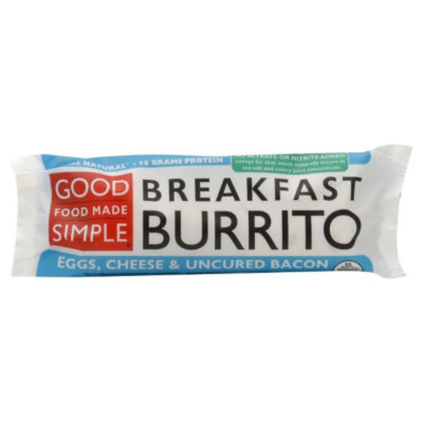 Good Food Made Simple Egg, Cheese & Uncured Bacon Breakfast Burrito