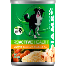 Iams Adult Ground Savory Dinner w/Tender Chicken & Rice Dog Food