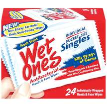 Wet Ones Antibacterial Singles