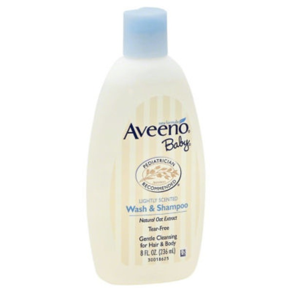 Aveeno® Baby Wash & Shampoo, Lightly Scented