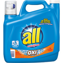 All with Stainlifters Oxi Liquid Laundry Detergent