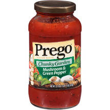 Prego Chunky Garden Italian Sauce With Mushroom & Green Pepper