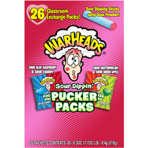Warheads Sour Dippers Pucker Packs Valentine's Day Variety Pack