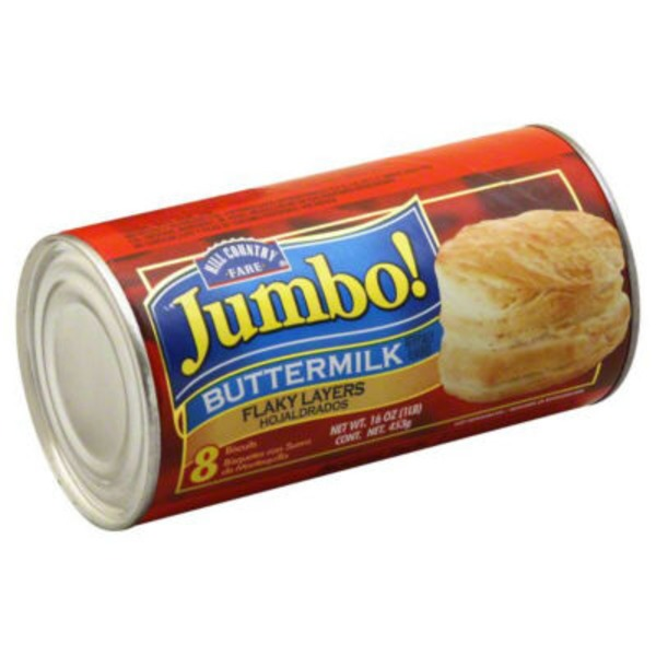 Hill Country Fare Jumbo Flaky Buttermilk Biscuits