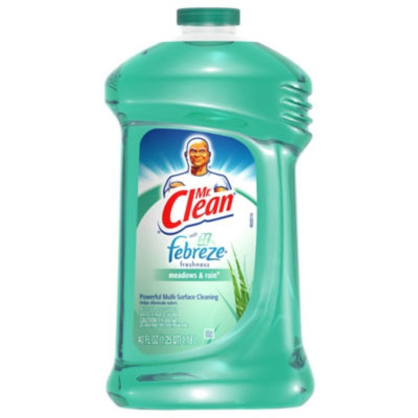 Mr. Clean Mr Clean Liquid All Purpose Cleaner with Febreze Meadows and Rain 40 Oz  Surface Care
