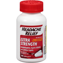 Headache Relief Extra Strength Acetaminophen/Aspirin Coated Caplets