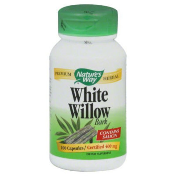 Nature's Way White Willow Bark 400mg Capsules - 100 CT