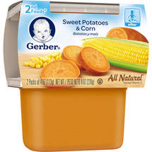 Gerber 2nd Foods Sweet Potatoes & Corn Baby Food