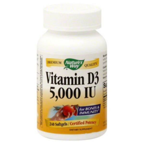 Nature's Way Vitamin D3, 5,000 IU, Softgels