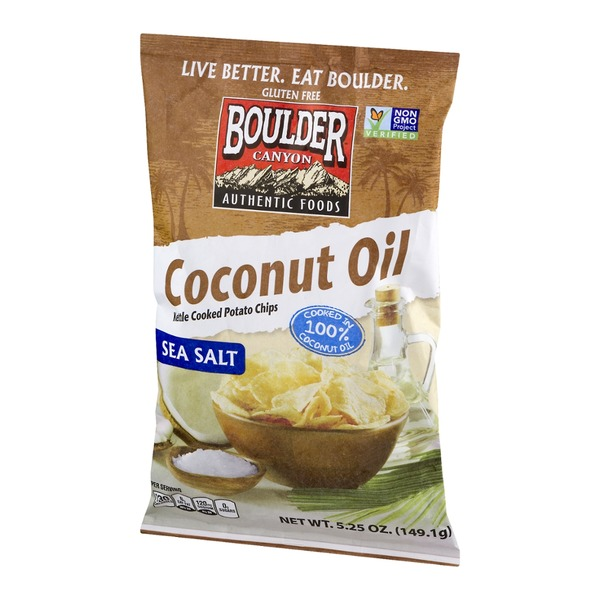 Boulder Canyon Coconut Oil Kettle Cooked Potato Chips Sea Salt