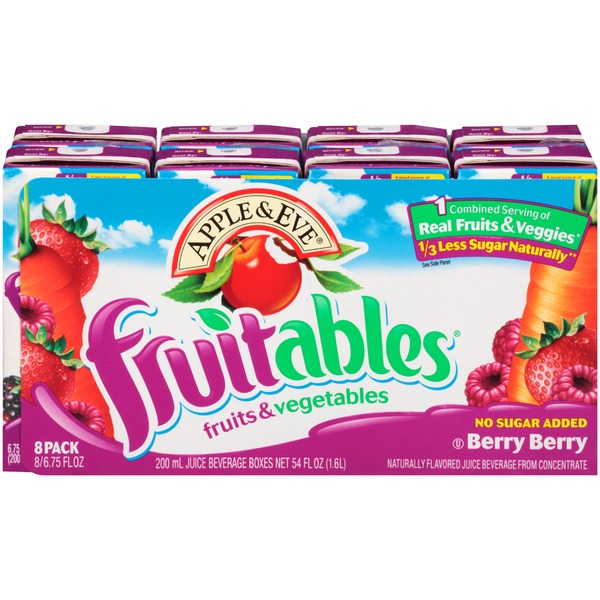 Apple & Eve Fruits & Vegetables Berry Berry Juice Beverage Fruitables