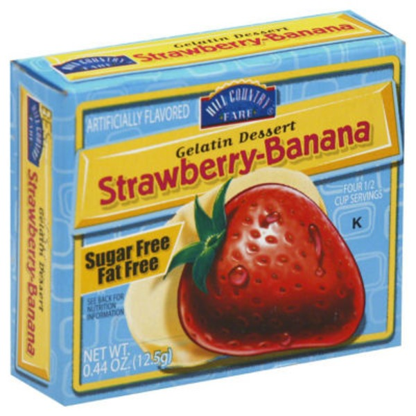 Hill Country Fare Sugar Free Strawberry Banana Gelatin