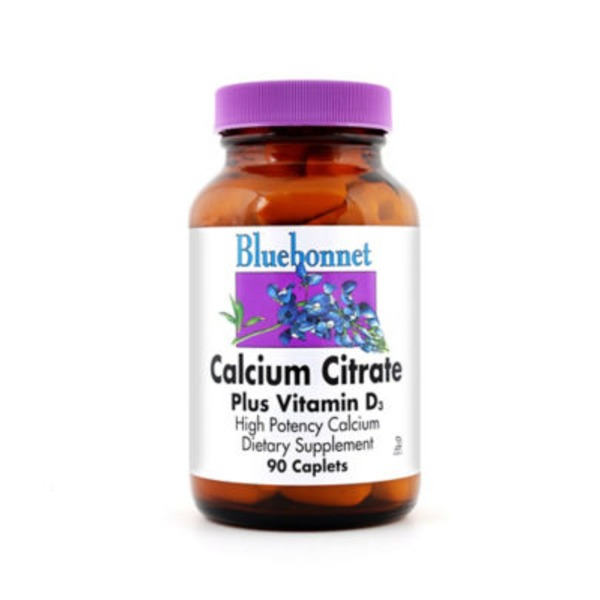 Bluebonnet Calcium Citrate Plus Vitamin D3 High Potency