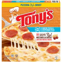 Tony's Pizzeria Style Crust Half Cheese & Half Pepperoni Pizza