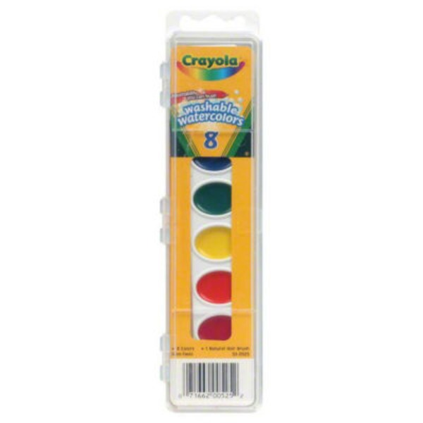 Crayola Washable Watercolors - 8 CT