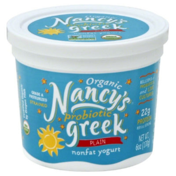 Nancy's Organic Probiotic Greek Plain Nonfat Yogurt