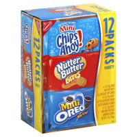 Nabisco Variety Pack Oreo Mini/Nutter Butter Bites/Mini Chips Ahoy! Cookies