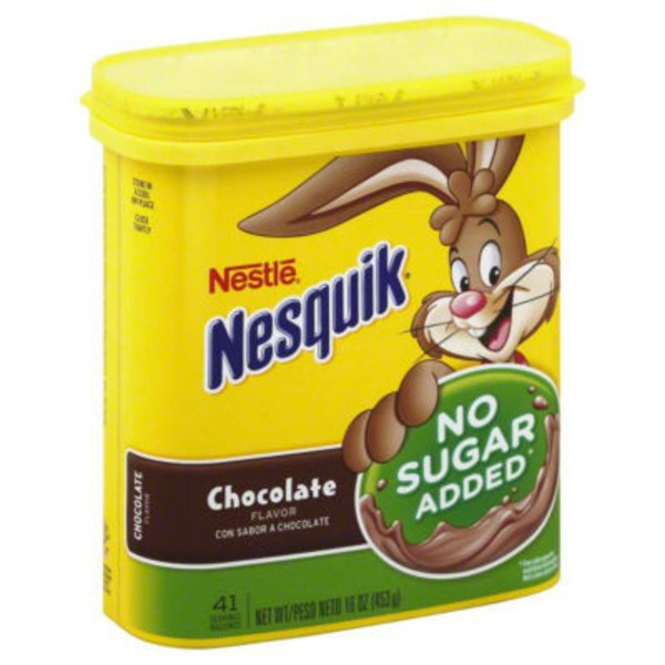 Nestle Nesquik No Sugar Added Chocolate Flavored Milk Powder