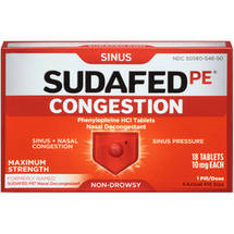 Sudafed PE Congestion Maximum Strength Sinus + Nasal Congestion Relief
