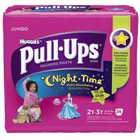 Pull Ups Night Time for Girls 2T-3T Training Pants