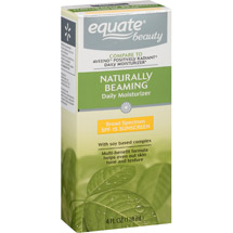 Equate Naturally Beaming Daily Moisturizer with Soy Based Complex