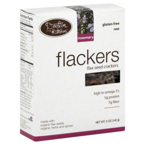 Flackers Flax Seed Crackers Rosemary