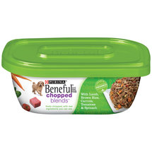 Purina Beneful Chopped Blends with Lamb Brown Rice Carrots Tomatoes and Spinach Wet Dog Food