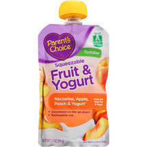Parent's Choice Squeezable Fruit & Yogurt Nectarine Apple Peach & Yogurt