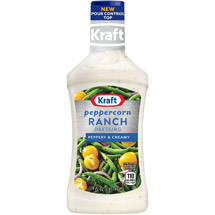 Kraft Salad Dressing: Dressing & Dip Peppercorn Ranch 16 Fl Oz