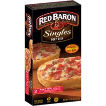 Red Baron Singles Deep Dish Meat Trio Pizzas