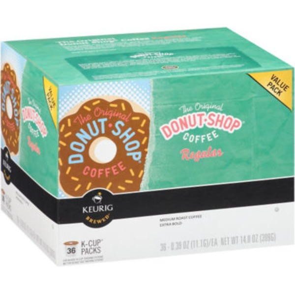 The Original Donut Shop Regular Medium Roast Extra Bold Coffee, K-Cups