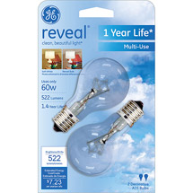 GE reveal® 60 watt A15