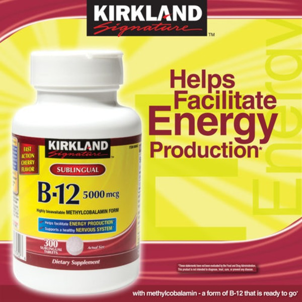 Kirkland Signature B12 5000 mg Sublingual