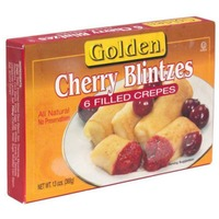 Golden. Cherry Blintzes Filled Crepes