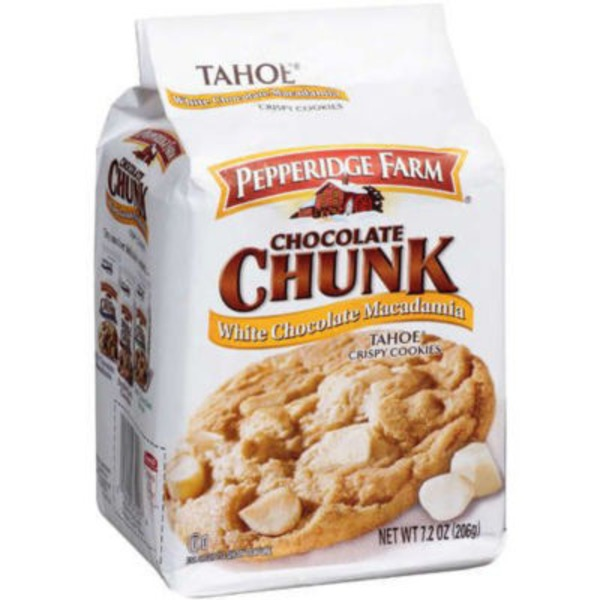 Pepperidge Farm Cookies Tahoe White Chocolate Macadamia Crispy Cookies