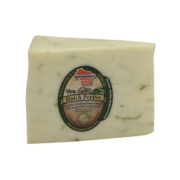 Henning's Wisconsin Cheese Hatch Pepper Cheddar Cheese