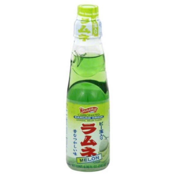 Shirakiku Carbonated Melon Ramune Drink