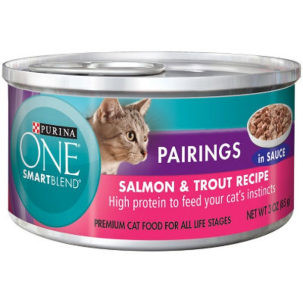 Purina One Cat Wet SmartBlend Pairings Salmon & Trout Recipe in Sauce Cat Food