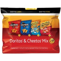 Frito Lays Doritos & Cheetos Mix Tortilla Chips & Cheese Flavored Snacks
