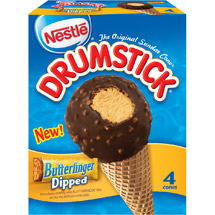 Nestle Drumstick Butterfinger Dipped Ice Cream Cones