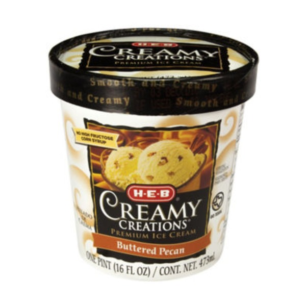 H-E-B Creamy Creations Buttered Pecan Ice Cream