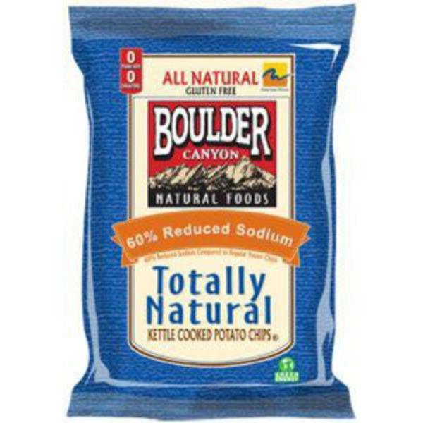 Boulder Canyon Totally Natural Kettle Cooked Chips With 60% Less Sodium