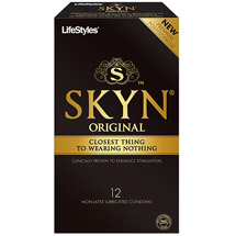 LifeStyles Skyn Premium Polyisoprene Non-Latex Lubricated Condoms