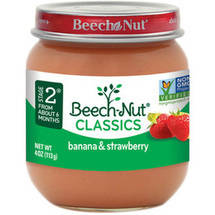 Beech Nut Chiquita Bananas & Strawberries Stage 2 Baby Food